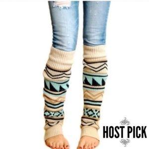 Knitted Warm Boho Long Leg Warmers